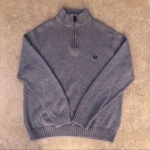 Grey Chaps Pullover Sweater Quarter Zip